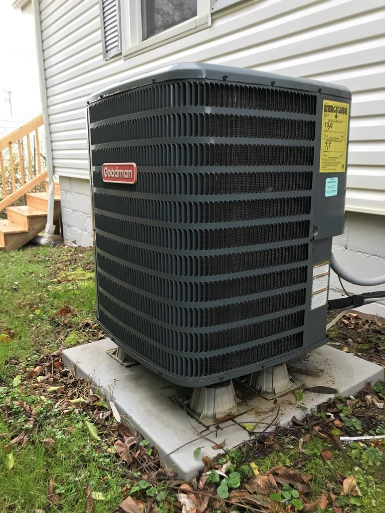 Newer heat pump adjoining
